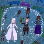 Джусоева Сабина, 8 лет, «Танец жениха и невесты», смешанная техника, РСО – Алания, с. Октябрьское, преп. Уртаева О.А.