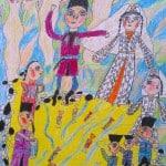 Дудиева Ляна, 9 лет, «Золотая свадьба», цветные мелки,тудия «Акварель» МБОУ ДОД ЦРТДЮ «Заря», г. Владикавказ, пед. Хубецова Э.А.