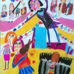 Илурова Вероника, 6 лет, «Наш Гергиев», масляная пастель, РСО – Алания, с. Октябрьское, пед. Хубецова Э.А.