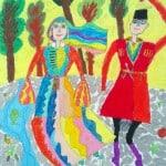 Кондратьева Полина, 8 лет, «Танец весны», цветные мелки, РСО – Алания, с. Октябрьское, пед. Хубецова Э.А.