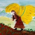 Максудова Джамиля, 13 лет, Иллюстрации к стихотворению Ф. Алиевой, педагог Эльдарова С.Д.