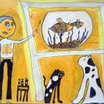 Наниева Мелана, 9 лет, «Вдохновение», маркеры,  РСО – Алания, с. Октябрьское, преп. Уртаева О.А.