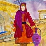 Нажмудинова Заира,11лет, «У родника», педагог Насруллаева М.Э.