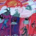 Редькова Елисавета, 8 лет, «Покорители вершин», гуашь, масляные мелки, РСО – Алания, с. Октябрьское, преп. Кулумбегова Э.В.