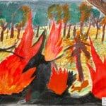 Рогачевская Рут, 12 лет «Береги лес от пожара!» Студия «ВДОХНОВЕНИЕ», преп. Ланге Н.Я.