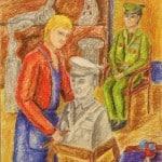 Шаманина Катя, 16 лет, «На память», масляные мелки, МБОУ ДОД ДХШ № 2, г. Северодвинск, пед. Афанасова С.А.