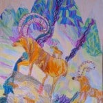 Элбакидзе Суламита, 8 лет, «Бурные реки Алании», цветные карандаши, тудия «Акварель» МБОУ ДОД ЦРТДЮ «Заря», г. Владикавказ, пед. Хубецова Э.А.