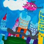 Чернышова Викторя, 7 лет «Мой город в будущем», гуашь ЦДТ, преп. Балдук А.В.