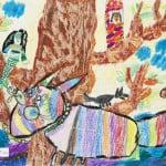 Дудиева Ляна, 8 лет, «Тайна лукоморья», Детская художественная школа, Республика Северная Осетия-Алания, г. Владикавказ, пед. Хубецова Э.А.