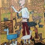 Козаева Амалия, 9 лет, «Сельский пастушок», смешанная техника, МБОУ ДОД ДХШ, РСО – Алания с.Октябрьское, пед. Караева Э.М.