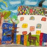 Годжиева Диляра, 7лет, «Новый дом», Детская художественная школа, Республика Северная Осетия-Алания, г. Владикавказ, пед. Хубецова Э.А.