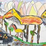 Бердиева Орнелла, 6 лет, «По родным просторам», Детская художественная школа, Республика Северная Осетия-Алания, г. Владикавказ, пед. Хубецова Э.А.