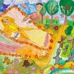 Залкар кызы Ширин, 8 лет «Спящая красавица», гуашь ЦДТ, преп. Балдук А.В.