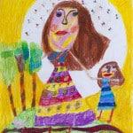 Кадзаева Виктория, 8 лет, «Мама, милая мама!», Детская художественная школа, Республика Северная Осетия-Алания, г. Владикавказ, пед. Хубенцова Э.А.