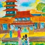 Сарди София, 9 лет «Путешествие в Японию», гуашь ЦДТ, преп. Балдук А.В.