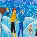 Барышева Арина, 6 лет «Зима», гуашь ЦДТ, преп. Балдук А.В.