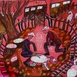 Теблоева Милена, 12 лет, «Стрижка овец», гуашь, фломастер, РСО – Алания, с. Октябрьское, пед. Теблоева М.А.