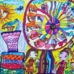 Джандиева Анжелика, 7 лет, «Весёлая карусель», фломастеры, РСО – Алания, с. Октябрьское, пед. Караева Э.М.