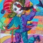 Тибилова Алана, 9 лет, «Весёлая карусель», масляные мелки, РСО – Алания, с. Октябрьское, пед. Караева Э.М.