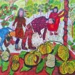 Ханикаев Казбек, 10 лет, «Отличный урожай», фломастеры, РСО – Алания, с. Октябрьское, пед. Шманатова З.А.
