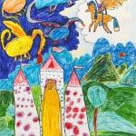 Хубулова Эльма. 9 лет, «Спасение принцессы», Детская художественная школа, Республика Северная Осетия-Алания, Пригородный р-н, с. Октябрьское, пед. Уртаева О.А.