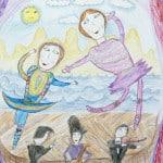 Дзгоева Амина, 8 лет, «Папа, мама, я – творческая семья»,  Детская художественная школа, Республика Северная Осетия-Алания, Пригородный р-н, с. Октябрьское, пед. Уртаева О.А.