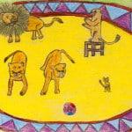 Базарева Алиса, 8 лет, «На арене цирка», Художественная школа, пед. Хоффман Т.