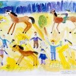 Рогозин Даник, 6 лет, «Счастье», Студия  изобразительного искусства «ПАНДА», ЦЕНТР «МОРИЯ» Израиль г. Беэр-Шевапед, Ланге Н.Я.