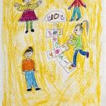 Затула Николь,  9 лет, «Неразлучные друзья», Студия  изобразительного искусства «ВДОХНОВЕНИЕ» Израиль г. Беэр-Шева, пед. Ланге Н.Я.