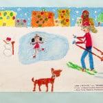 Мураш Алиса, 7 лет, «Зимнее счастье», Студия  изобразительного искусства «ПАНДА», ЦЕНТР «МОРИЯ» Израиль г. Беэр-Шева, пед. Ланге Н.Я.