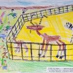 Рогозин Даник, 6 лет, «Интересно в зоопарке», Студия  изобразительного искусства «ПАНДА», ЦЕНТР «МОРИЯ» Израиль г. Беэр-Шева, пед. Ланге Н.Я.