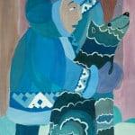 Калинина Анна, 11 лет «Хант – охотник», гуашь МБОУ ДОД «Детская школа искусств № 1», г. Сургут, преп. Юхтина Н.Я.