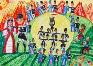 Дзоцоева Диана, 10 лет, «Танец урожая «Шой», РСО Алания, преп. Караева Э.М.