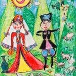 Бестаева Кристина, 6,5 лет, «Весёлый пастух», РСО Алания, преп. Караева Э.М.