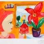 Лаптова А., 9 лет, «Про дюймовочку», гуашь, бумага,  МАО УДОД «ЧДШИ №2»,  преп. Варушкина Н.В.