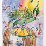 Голубева Ирина, 14 лет, «Путешествие в бессознательное», смешанная техника, МАО УДОД «ЧДШИ №2»,  преп. Алексеева И.Н.