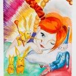Грачёва Наталия, 10 лет, «Алиса в Зазеркалье», гуашь, бумага, МАО УДОД «ЧДШИ №2»,  преп. Фомичёва  Е.К.