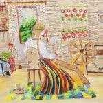 Поротская Елизавета, 10 лет, «Народные мотивы», Художественная школа, г. Юрмала, пед. Антон Вайводс
