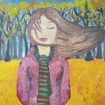 """Капустина Анна, 11 лет, """"Ветер"""", гуашь, МКУ ДО «Новооскольская школа искусств им. Н.И. Платонова», преп. Тавокина О.В."""
