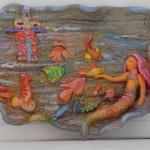 """Фрол Вика, 9 лет, """"Русалочка"""", керамика, МКОУ ДО «Центр дополнительного образования детей» г. Коркино, пед. Бондарь О.Н., Колмогоров А.В."""