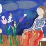 """Потапова Мария, 8 лет, """"Духи тюльпанов"""" (иллюстрация к английской сказке), гуашь, Школа """"Премьер"""" г.о. Москва, пед. Тихомирова Е.И."""