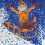 Овчинников Даня, 5 лет, «С горки с ветерком», гуашь, ЦЭР «Ступени», г. Орехово-Зуево Московской области, пед. Куликова А.Л.